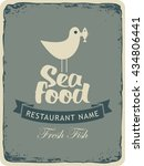 retro banner for a seafood... | Shutterstock .eps vector #434806441