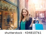 woman doing shopping | Shutterstock . vector #434810761