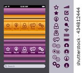 vector app elements buttons and ...