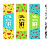 set of sale banners promotion... | Shutterstock .eps vector #434818225