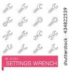 vector settings wrench icon set