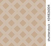 seamless beige simple diagonal... | Shutterstock . vector #434826004