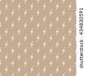 seamless beige thunderbolt sign ... | Shutterstock .eps vector #434830591