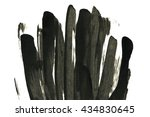 abstract black ink stain.... | Shutterstock . vector #434830645