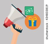 shopping design. marketing icon.... | Shutterstock .eps vector #434833819