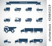 trucks icons set. | Shutterstock .eps vector #434841019