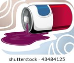 illustration of can with out... | Shutterstock .eps vector #43484125