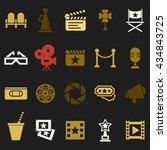 cinema retro movies icons set....   Shutterstock . vector #434843725