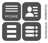 hamburger menu icons set. gray...