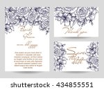 romantic invitation. wedding ... | Shutterstock .eps vector #434855551