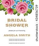bridal shower invitation... | Shutterstock .eps vector #434856739