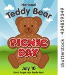 teddy bear picnic day poster ... | Shutterstock . vector #434859349