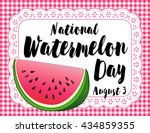watermelon day poster ... | Shutterstock . vector #434859355