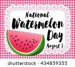 watermelon day poster ... | Shutterstock . vector #434859355