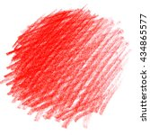 bright red watercolor crayon...   Shutterstock . vector #434865577