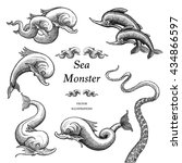 Sea Monster Illustrations In A...