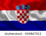 croatia flag | Shutterstock . vector #434867311