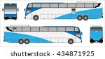 modern long bus vector  colour... | Shutterstock .eps vector #434871925