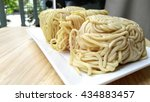 raw egg noodle ready to cook on ... | Shutterstock . vector #434883457