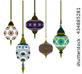set of morocco lamps vector.... | Shutterstock .eps vector #434885281