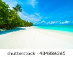 beautiful tropical beach and... | Shutterstock . vector #434886265