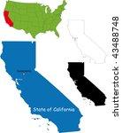 state of california  usa   Shutterstock .eps vector #43488748