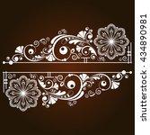 vector vintage floral ...   Shutterstock .eps vector #434890981