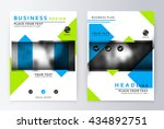 flyer cover design green and... | Shutterstock .eps vector #434892751