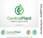 central plant logo template... | Shutterstock .eps vector #434897161