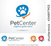 pet center logo template design ... | Shutterstock .eps vector #434897905