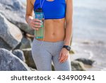 woman working out outdoors in... | Shutterstock . vector #434900941