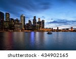 central business district in... | Shutterstock . vector #434902165