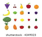 fruit collection | Shutterstock .eps vector #4349023