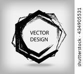 hand drawn hexagon shapes. ... | Shutterstock .eps vector #434905531