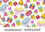 happy birthday vector... | Shutterstock .eps vector #434912449