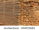 stacked of wood log for... | Shutterstock . vector #434923681