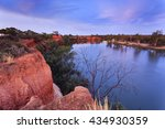 Red Cliffs Of Murray River On...