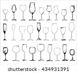 wine glass set   collection of... | Shutterstock .eps vector #434931391