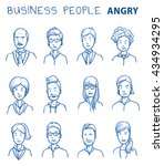 collection of angry business... | Shutterstock .eps vector #434934295