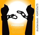 anti slavery campaign. freedom... | Shutterstock .eps vector #434935675