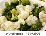 Cooked Broccoli And Cauliflowe...