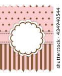 cute template in pink and brown ... | Shutterstock .eps vector #434940544