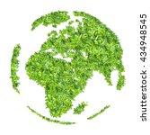 green leaves. love the world... | Shutterstock . vector #434948545