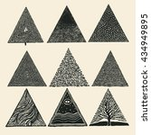 hand drawn triangles set.... | Shutterstock .eps vector #434949895