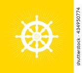 dharma wheel of buddhism symbol. | Shutterstock .eps vector #434950774