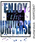 t shirt graphics. space... | Shutterstock . vector #434952847