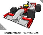 funny fast cartoon formula race ... | Shutterstock .eps vector #434958925