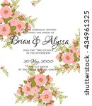 wedding invitation card with... | Shutterstock .eps vector #434961325