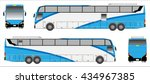 modern long bus vector  colour... | Shutterstock .eps vector #434967385