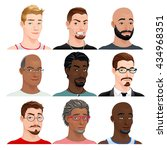 different male avatars. vector... | Shutterstock .eps vector #434968351